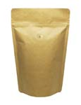 12 oz Stand Up Pouch with valve Kraft PET/ALU/LLDPE
