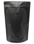 12 oz Stand Up Pouch with valve Matte Black MBOPP/PET/ALU/LLDPE
