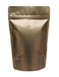 12 oz Stand Up Pouch with valve Matte Bronze PET/ALU/LLDPE