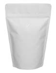 12 oz Stand Up Pouch with valve Matte White MBOPP/PET/ALU/LLDPE