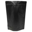 2 lb Stand Up Pouch Matte Black MBOPP/PET/ALU/LLDPE