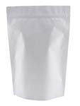 2 lb Stand Up Pouch Matte White MBOPP/PET/ALU/LLDPE