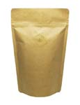 2 oz Stand Up Pouch with valve Kraft KRAFT/ALU/LLDPE
