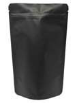 4 oz Stand Up Pouch Matte Black MBOPP/PET/ALU/LLDPE