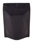 4 oz Metalized Stand Up Pouch Black PET/VMPET/LLDPE