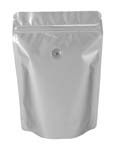 4 oz Metalized Stand Up Pouch Silver PET/VMPET/LLDPE