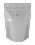 8 oz Metalized Stand Up Pouch Silver BOPP/VMPET/LLDPE