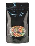 16 oz Window Stand Up Pouch Black PET/LLDPE