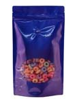 16 oz Window Stand Up Pouch BLUE PET/LLDPE