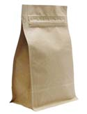 12 oz Block Bottom Side Gusset Bags  Kraft KRAFT / PET / ALU / LLDPE