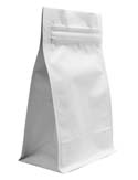 12 oz Block Bottom Side Gusset Bags  Matte White MBOPP / PET / ALU / LLDPE