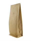 16 oz Block Bottom Side Gusset Bags with valve Kraft KRAFT / ALU / LLDPE