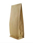 16 oz Block Bottom Side Gusset Bags  Kraft KRAFT / ALU / LLDPE