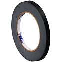 1/4 in x 60 yds 4.9 Mil Black Masking Tape