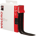 3/4 in x 15' Black Velcro Tape Combo - Strips