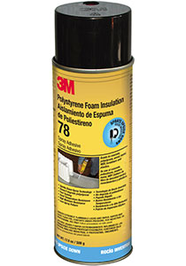 3M Polystyrene Foam Insulation 78 Spray Adhesive, INVERTED 24 fl oz aerosol