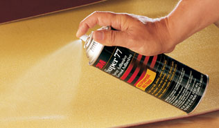 3M Super 77 Classic Spray Adhesive Original Formula Application Shot
