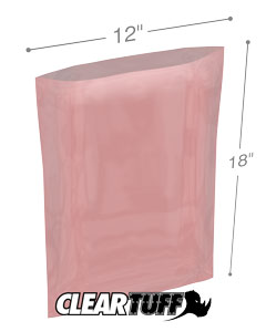 12x18 2mil Antistatic Poly Bags