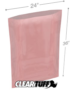 24x36 4mil Antistatic Poly Bags