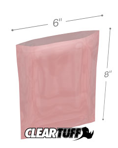 6x8 2mil Antistatic Poly Bags