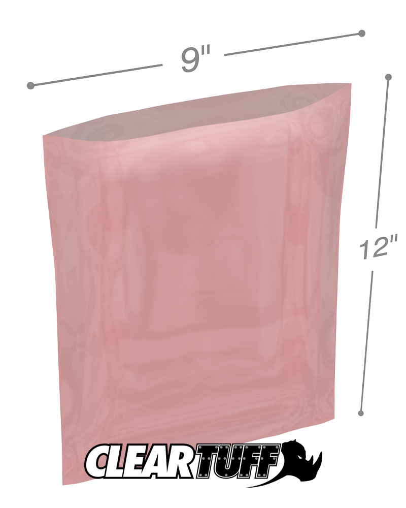 9 x 12 2 mil anti static poly bags