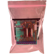 Pink 4 Mil Minigrip Static Guard Reclosable Bags