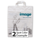 Soft Loop Handle Custom Trade Show Bags