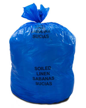 20-30 Gallon Blue 30 x 43 Soiled Linens Trash Bags