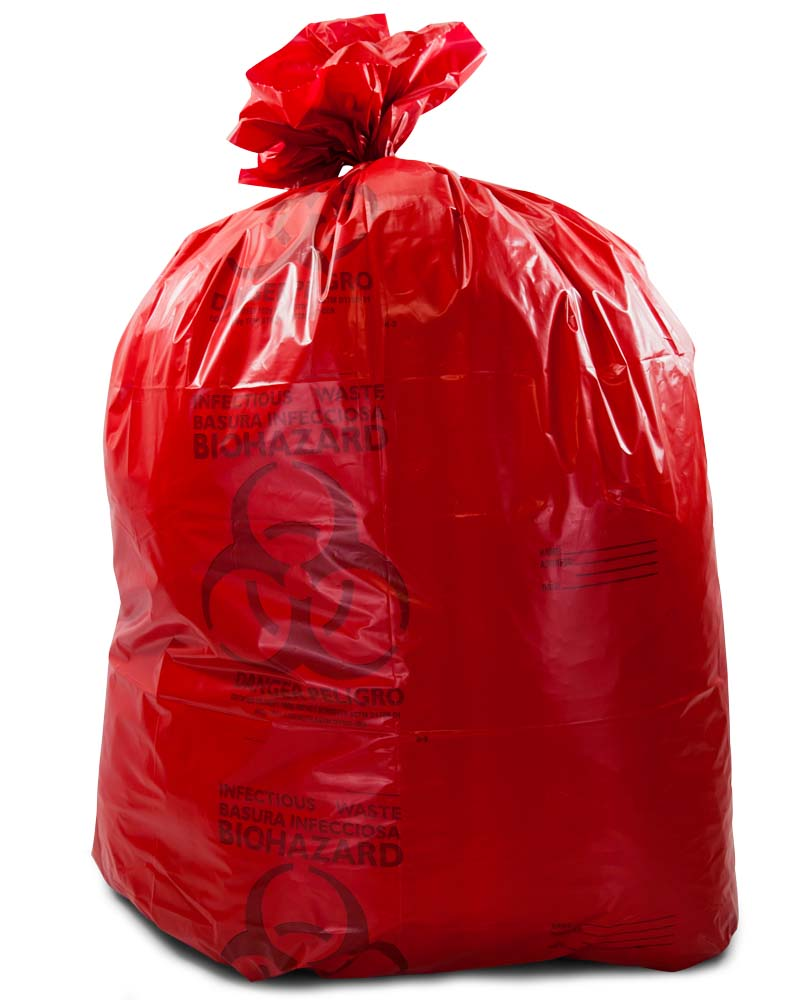 20 30 Gallon Red X 43 Medical Waste Trash Bags