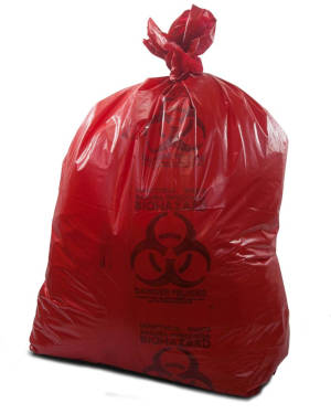 44 Gallon Red 37 x 50 Medical Waste Trash Bags