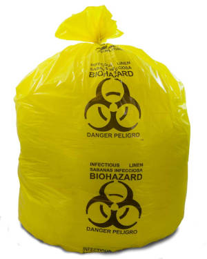 44 Gallon Yellow 37 x 50 Infectious Linen Trash Bags