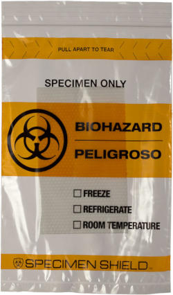 6 x 9 Biohazard Absorbent Specimen Bag