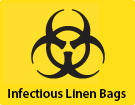Yellow Infectious Linen Bags