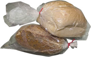 Wholesale 4 x 2 x 12 High Clarity Gusseted 1 Mil Plastic Bakery Bread Bags