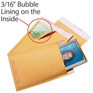 Self Seal Kraft paper Bubble Mailers