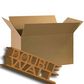 30 x 17 x 17 350 lb Doublewall Corrugated Boxes