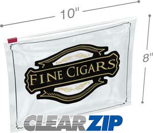 10x8 3 mil slider lock cigar bag