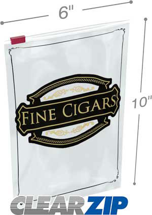 6.5x10 3 mil slider lock cigar bag