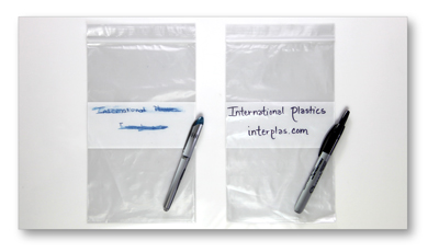 Reclosable White Block Bags Flat Poly Bags White Block