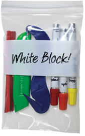Whiteblock Write on Bag for organizing