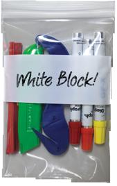 Ziplock White Block Bags Reclosable