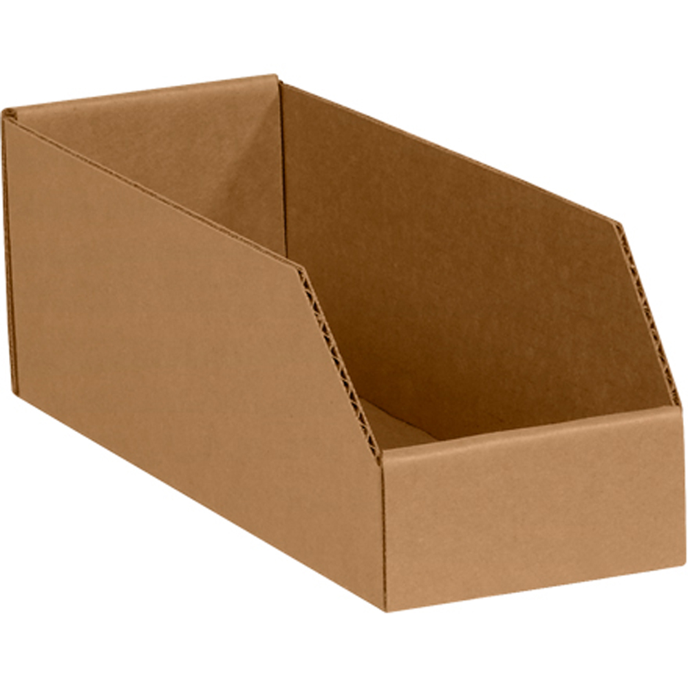 6 Quot X 18 Quot X 4 1 2 Quot Kraft Open Top Bin Boxes
