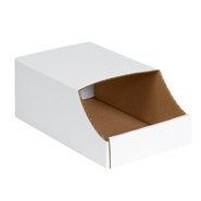 White Stackable Corrugated Bins