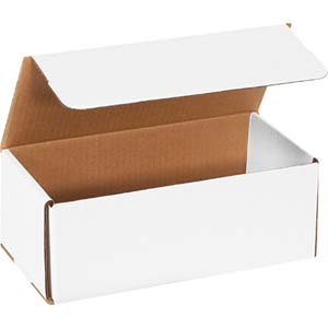 10x4x3.75 white corrugated mailers