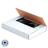 12 1/8 x 9 1/8 x 2 White Corrugated Bookfold