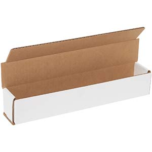 12x2x2  white corrugated mailers