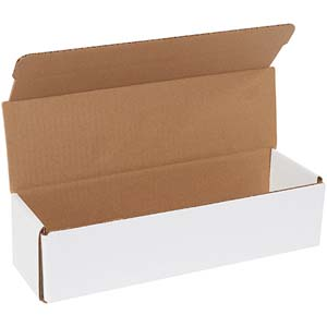 12x3.5x3 white corrugated mailers