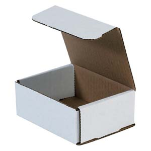 5x4x2 white corrugated mailers