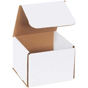 5x5x4 white corrugated mailers