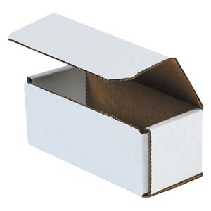 6x2.5x2.375 white corrugated mailers